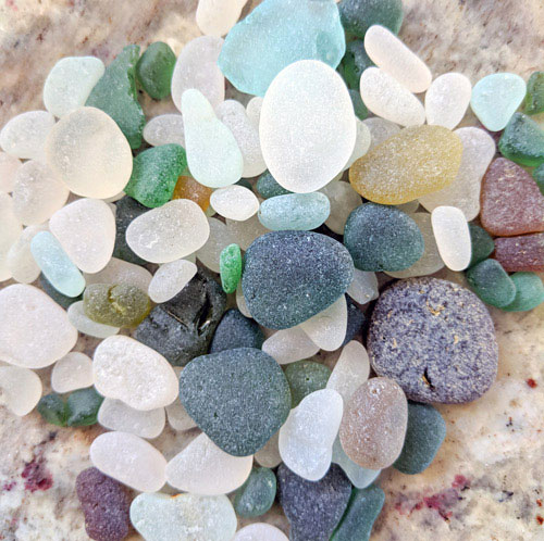 Loose Sea Glass in Various Colors